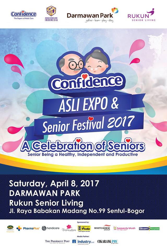 Senior Festival splash cartoon dan orang tua