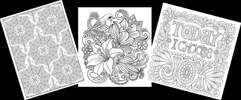 Banyak pilihan pola coloring sheets yang tersedia